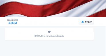 La cuenta POTUS elimina todos sus tweets con la llegada de Donald Trump