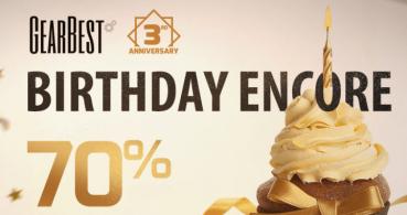 Oferta: tecnología desde 0,99 dólares por el tercer aniversario de GearBest