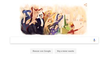 Google homenajea a Sergei Diaghilev en un Doodle