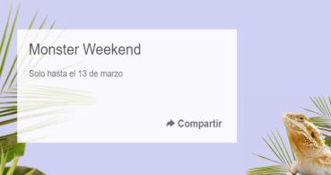 Conoce las mejores ofertas de eBay por el Monster Weekend