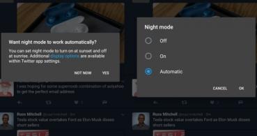 Twitter ya cuenta con modo nocturno automático