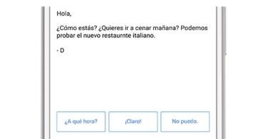 Gmail ya incluye respuestas inteligentes en español