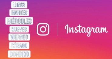 Instagram Stories añade stickers de los días de la semana