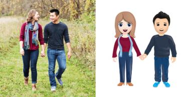 Los emojis de 2019 incluirán parejas interraciales