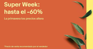 Super Week en eBay, estas son las ofertas más importantes