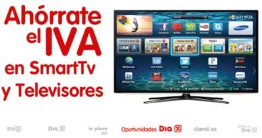 Día sin IVA en televisores y smart TV en las tiendas DIA