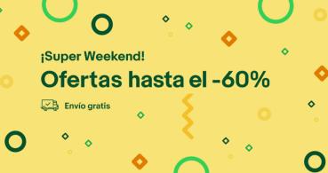 Nuevo Super Weekend de eBay con ofertas de hasta el 60% y envíos gratuitos