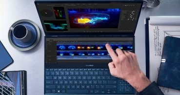Asus ZenBook Pro Duo, los portátiles con pantalla secundaria ScreenPad Plus 4K