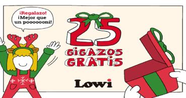 Lowi regala 25 GB de datos a sus clientes por Navidad