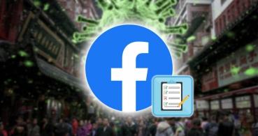 Facebook lanza una encuesta para saber si tienes coronavirus