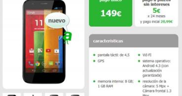 Moto G ya disponible a plazos o por 149 euros con Amena