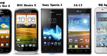 Smartphones Android que no superan los 200 euros