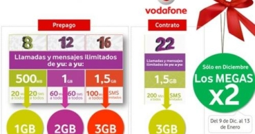 Vodafone Yu ofrece el doble de megas en Navidad