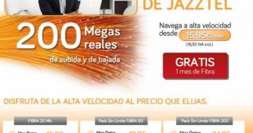 Jazztel ofrece fibra óptica desde 15.95 euros mensuales