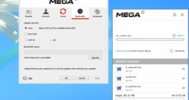MEGA Sync, el cliente de MEGA para Windows