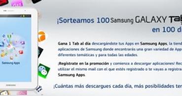 Sorteo de 100 Samsung Galaxy Tab 2 en 100 días