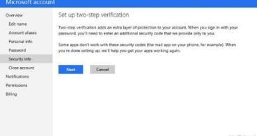 Las cuentas de Outlook contarán con la verificación en dos pasos