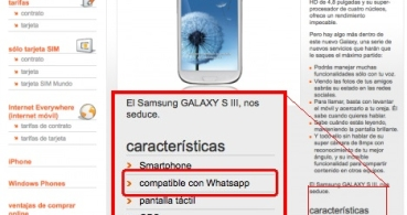 Orange anuncia que el Samsung Galaxy S III es compatible con WhatsApp