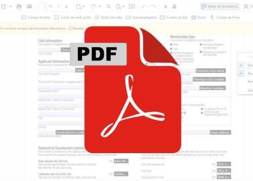 Cómo rellenar un formulario en PDF