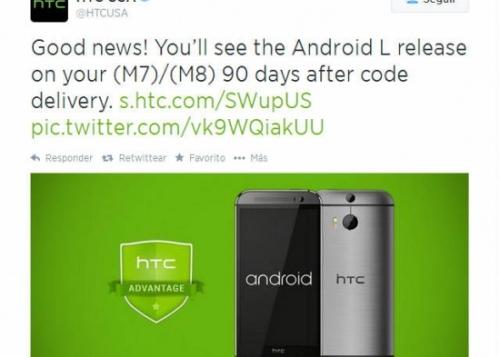HTC anuncia que el HTC One se actualizará a Android L