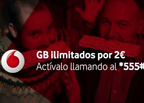Vodafone ofrece datos ilimitados para estas navidades por 2 euros