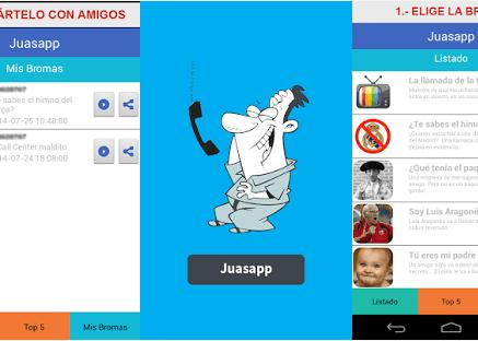 Juasapp, la app para gastar bromas telefónicas