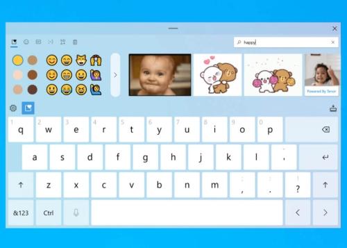 Windows 10 prepara un nuevo teclado táctil: emojis, GIFs y touchpad virtual