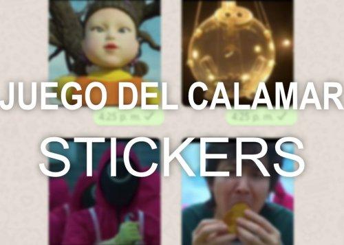 Descarga los stickers de WhatsApp de El Juego del Calamar