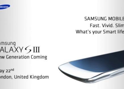 El Samsung Galaxy SIII podría presentarse el 23 de mayo