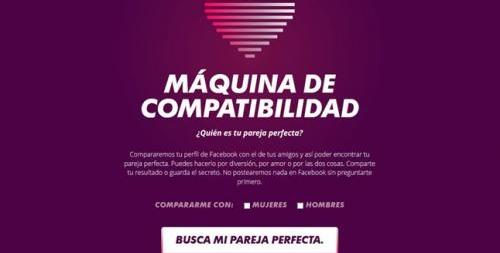 Máquina de Compatibilidad, la nueva app de MTV para Facebook