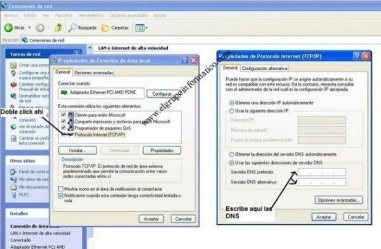 Cambiar DNS en Windows XP