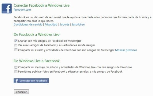 Conectar al chat de Facebook desde Windows Live Messenger 2011