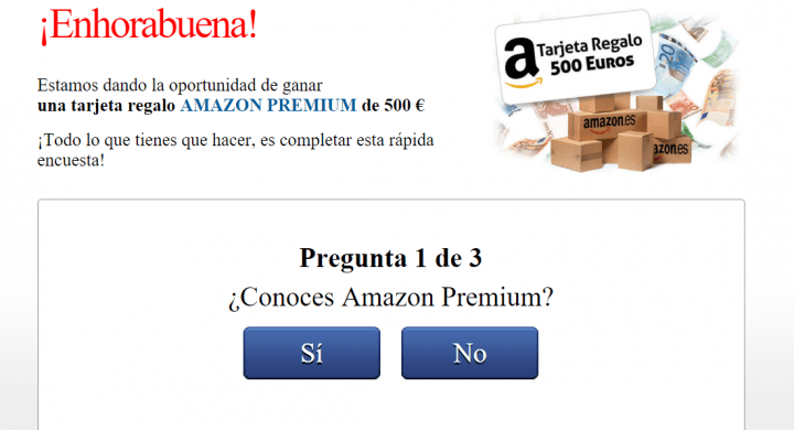 REGALOS DE AMAZON ESTAFA