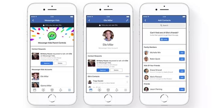 Resultado de imagen para Facebook lanza app de mensajería solo para niños.