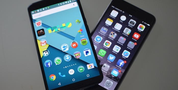 Comparativa: Nexus 6 vs iPhone 6 Plus