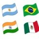 Android 5.0 Lollipop tendrá 209 emoticonos de banderas de países