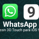 Descarga WhatsApp 2.12.11 para iOS con 3D Touch y vista previa