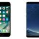 iPhone 7 y Samsung Galaxy S8, los teléfonos más vendidos