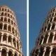 Una ilusión óptica se hace viral: dos fotos son idénticas, pero una parece inclinada