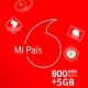 Mi País, la tarifa prepago de Vodafone con 5 GB y 800 minutos de llamadas internacionales