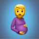 Reclaman incluir un emoji de un hombre embarazado en WhatsApp